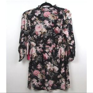 d12cb3db2b2a2d Siren Lily Tops - Siren Lily Maternity Sheer Floral 3/4 Sleeve Top
